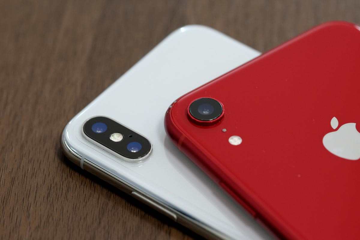 iPhone XSとiPhone XR リアカメラ