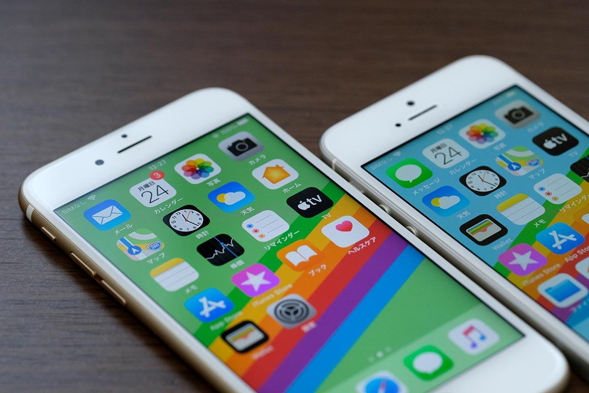 iPhone 6sとiPhone SEのディスプレイ