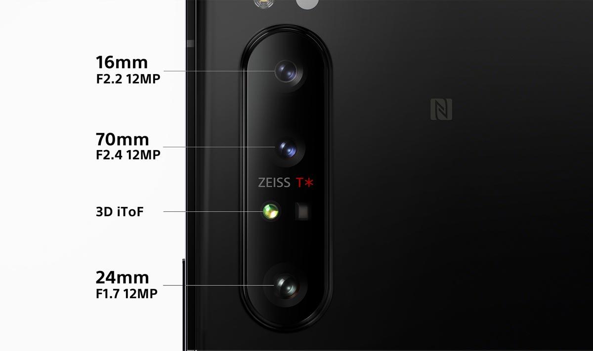 トリプルレンズカメラと3D iToFセンサー