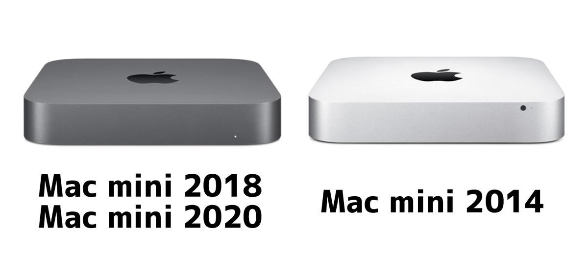 Mac mini 新旧比較