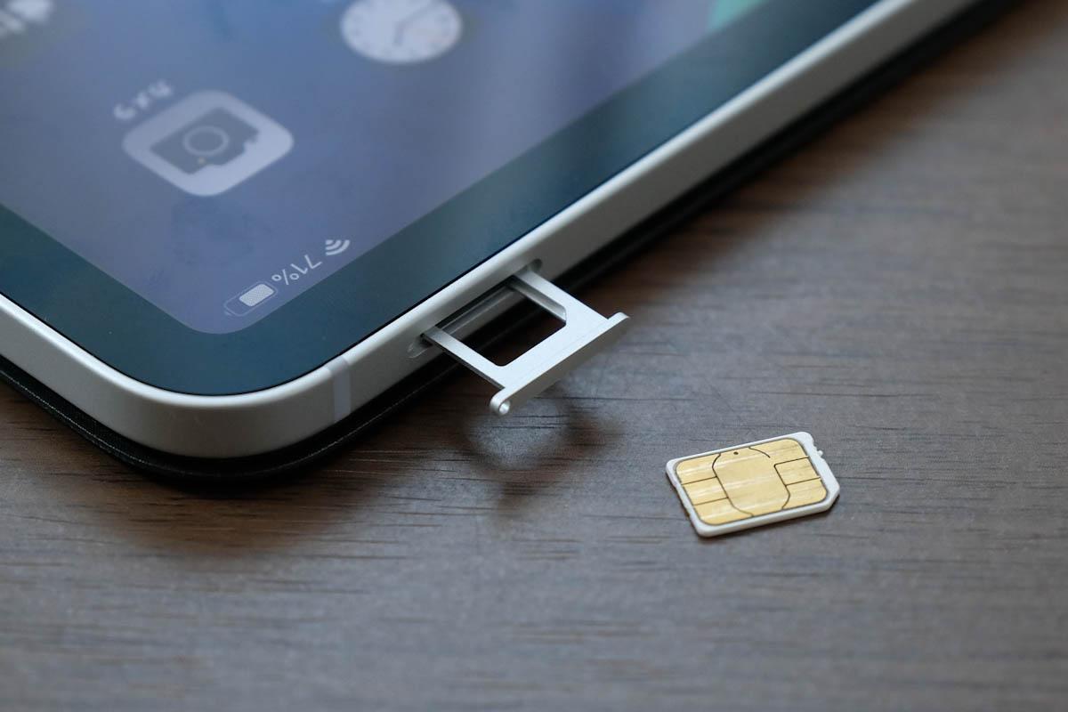 iPad Pro 11インチ nanoSIMに対応