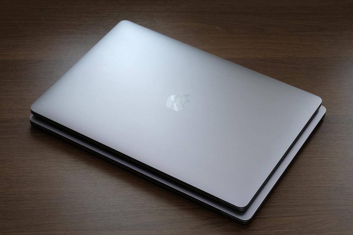 MacBook Pro 15インチと16インチ のサイズ差
