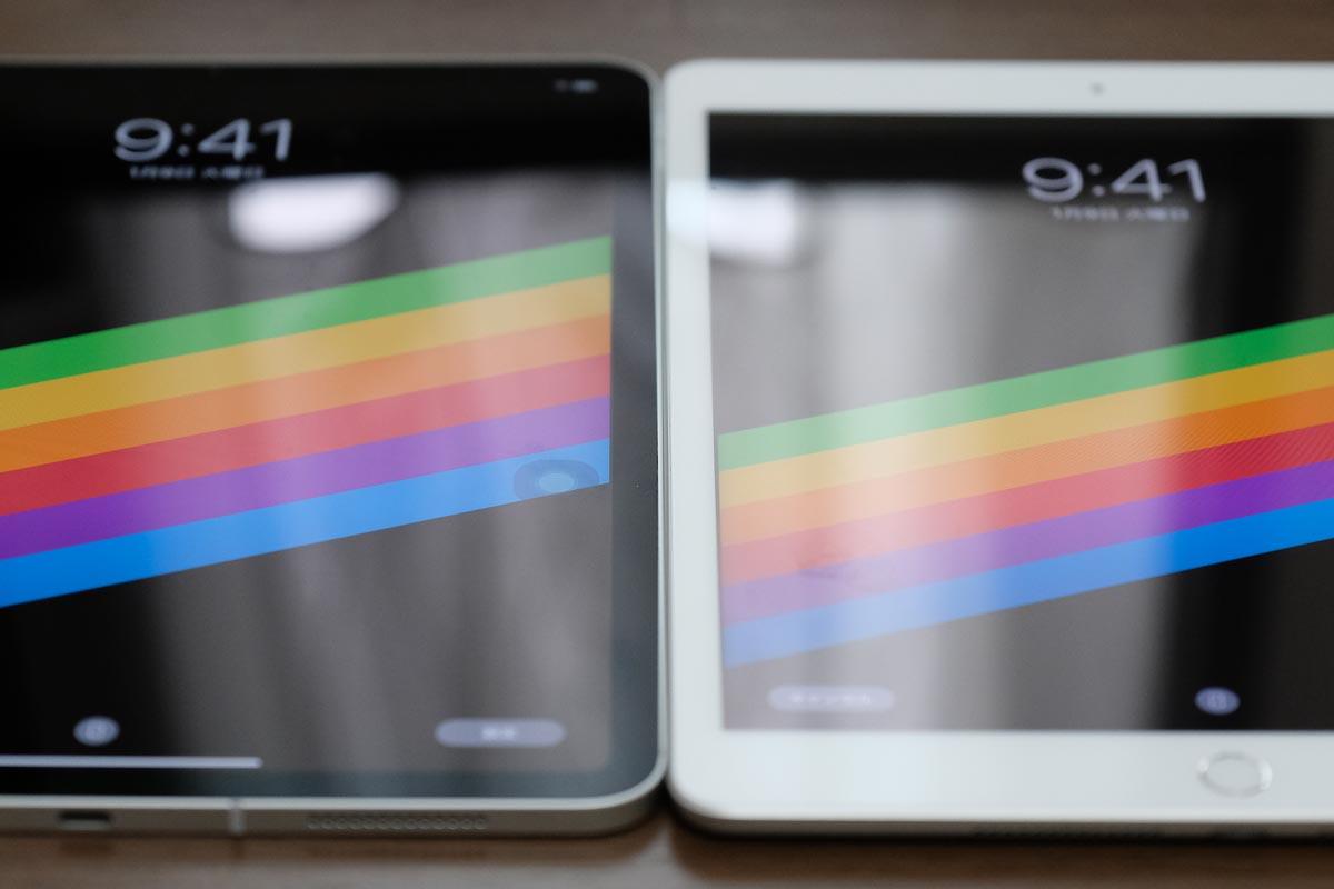 iPad Pro/Air・iPadの画面反射の違い