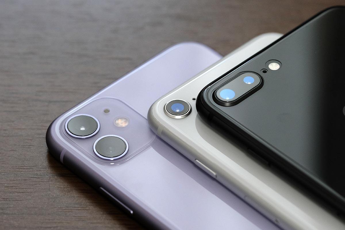 iPhone 11・8・8 Plus リアカメラ比較