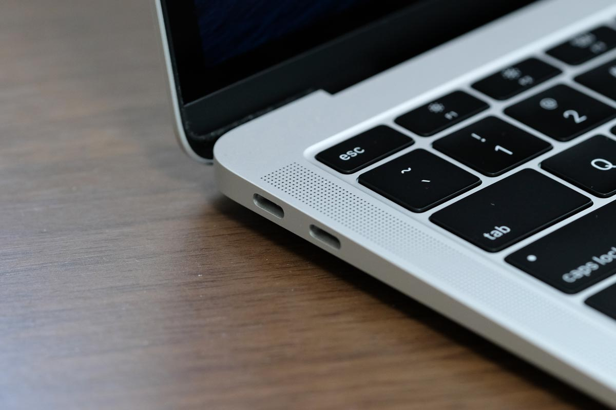 USB-Cポートを2つ搭載