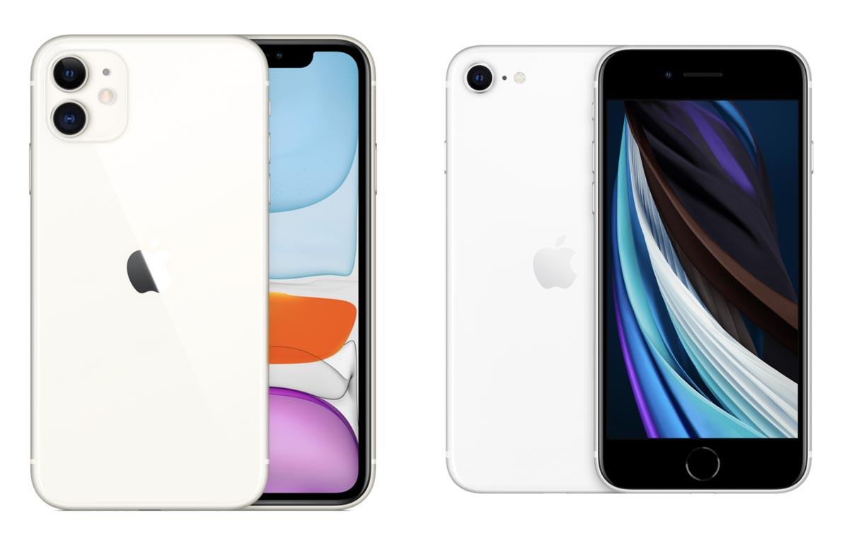 iPhone 11・iPhone SE(第2世代)本体サイズ