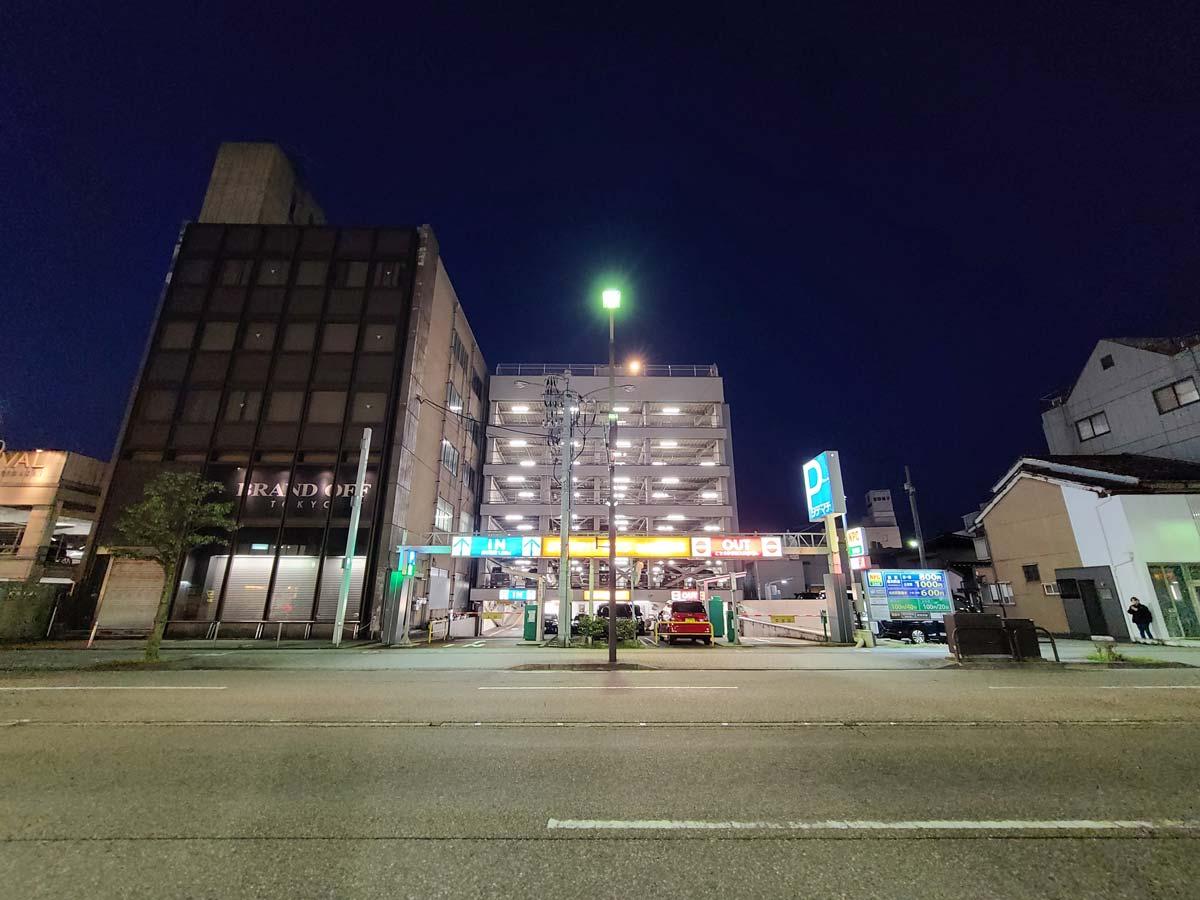 Galaxy S20 超広角カメラで夜間撮影(画像をクリックで拡大)