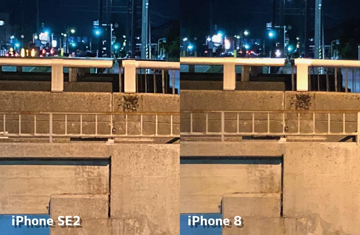 夜間撮影の画質比較