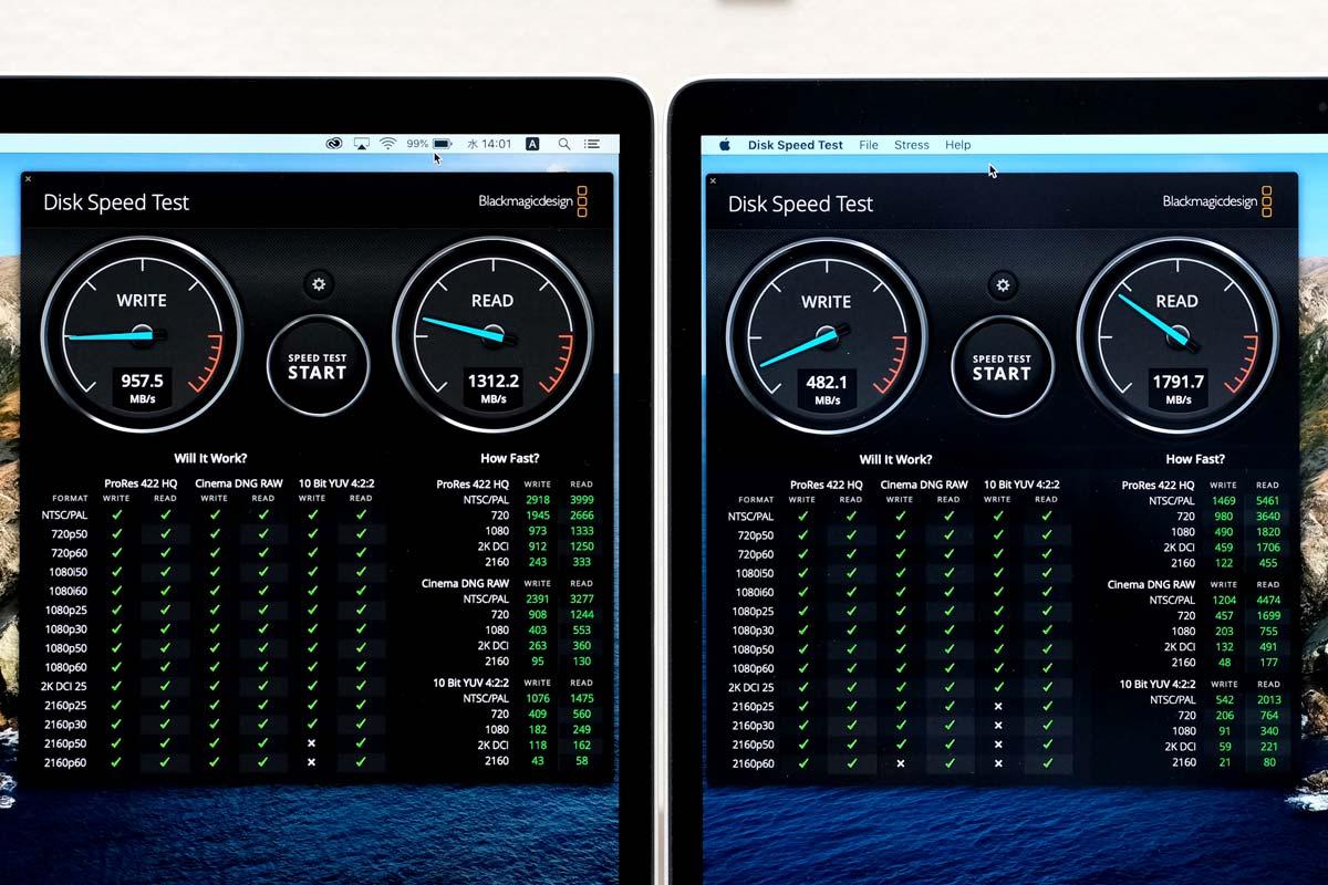 MacBook Air 2020のストレージ性能