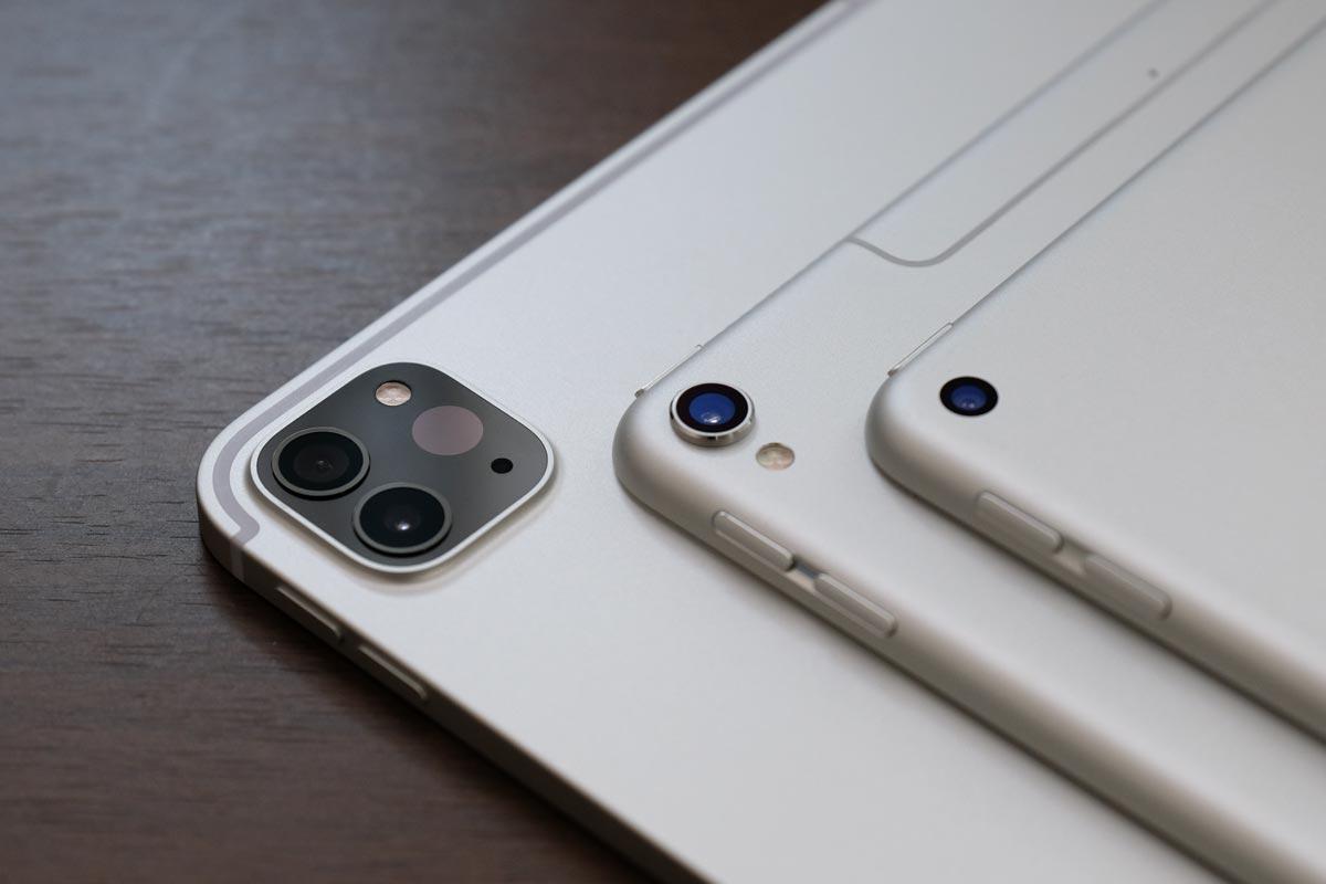iPad ProとiPad Airのリアカメラ