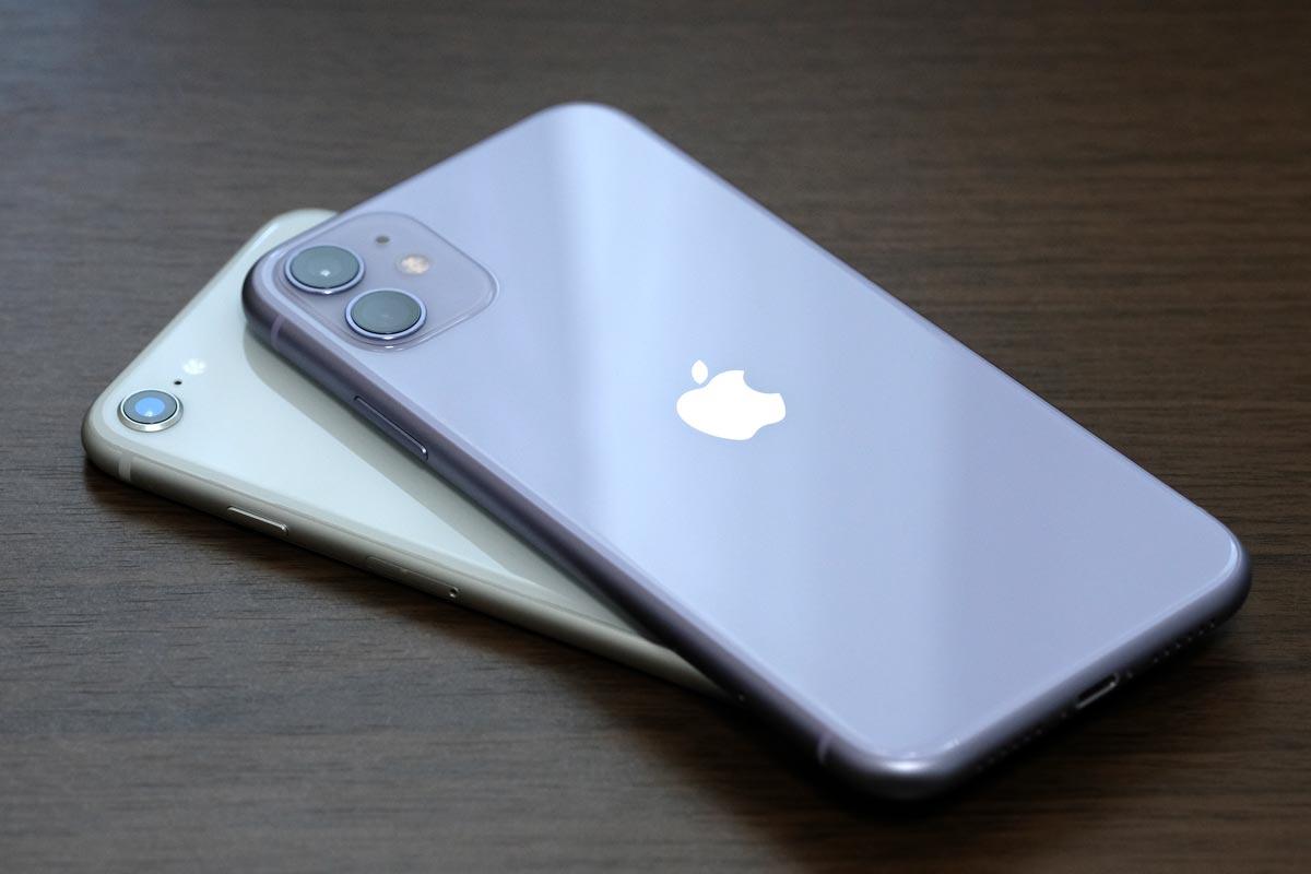 iPhone 11とiPhone 8