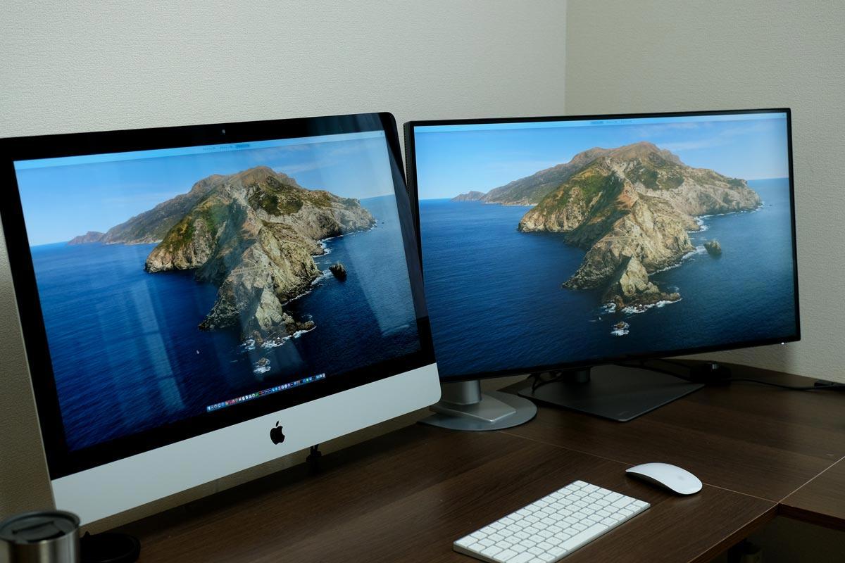 iMac 27インチとBenQ PD3220U
