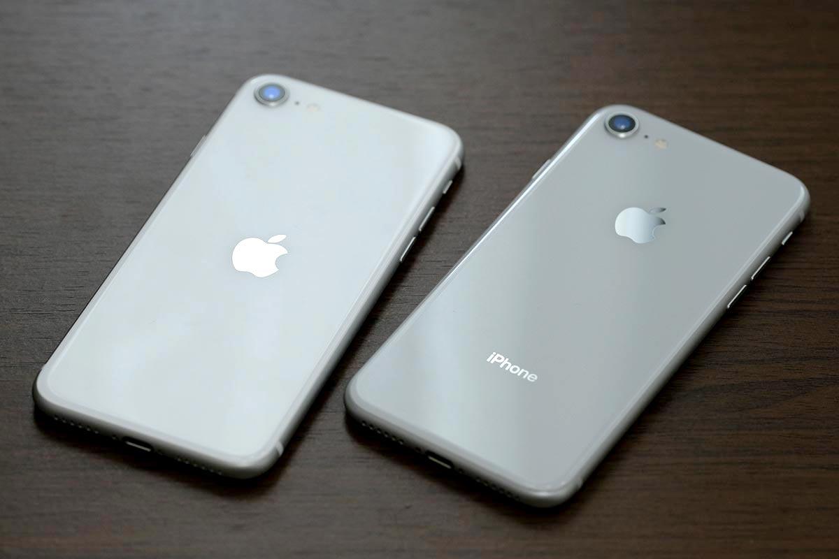 iPhone SE(第2世代)とiPhone 8