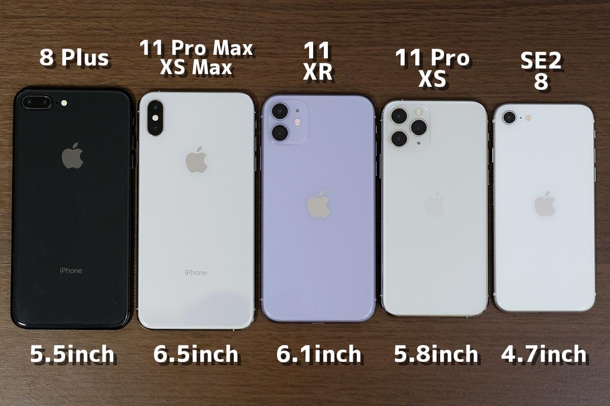 iPhone 本体サイズの違い