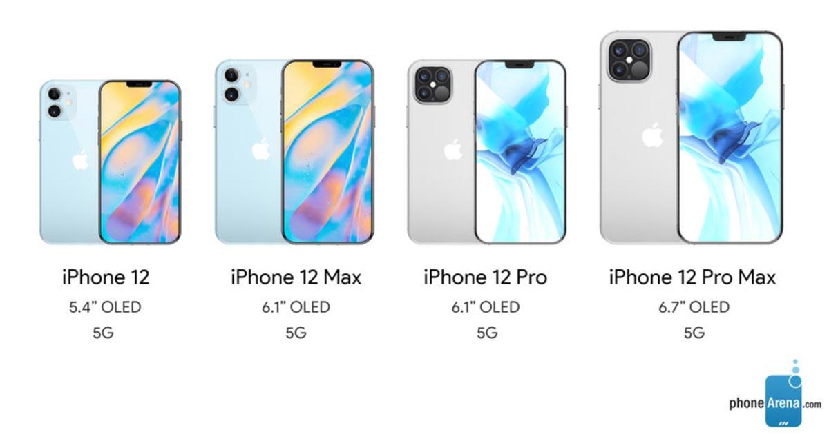 iPhone 12は4つのモデルに