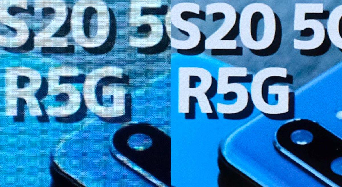 moto g8とXperia 8の解像感の違い