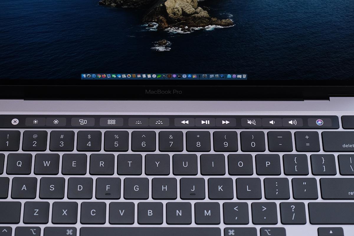 MacBook Pro 13インチ(2020)のTouch Bar