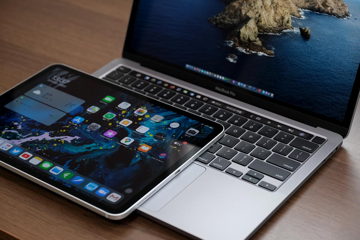 iPad Pro 11インチとMacBook Pro 13インチ