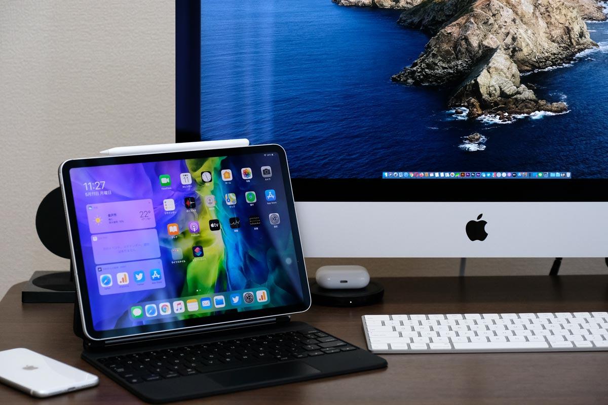 iPad Pro 11インチとiMac 27インチ
