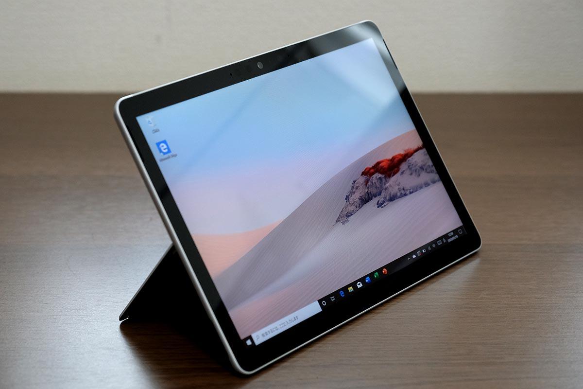 Surface Go2 画面を立てかけた状態