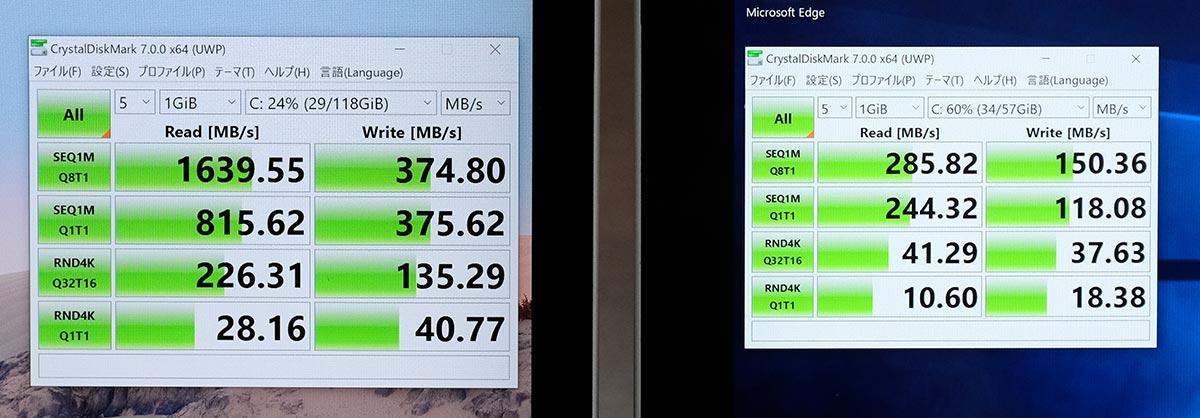 SSDとeMMCの性能差
