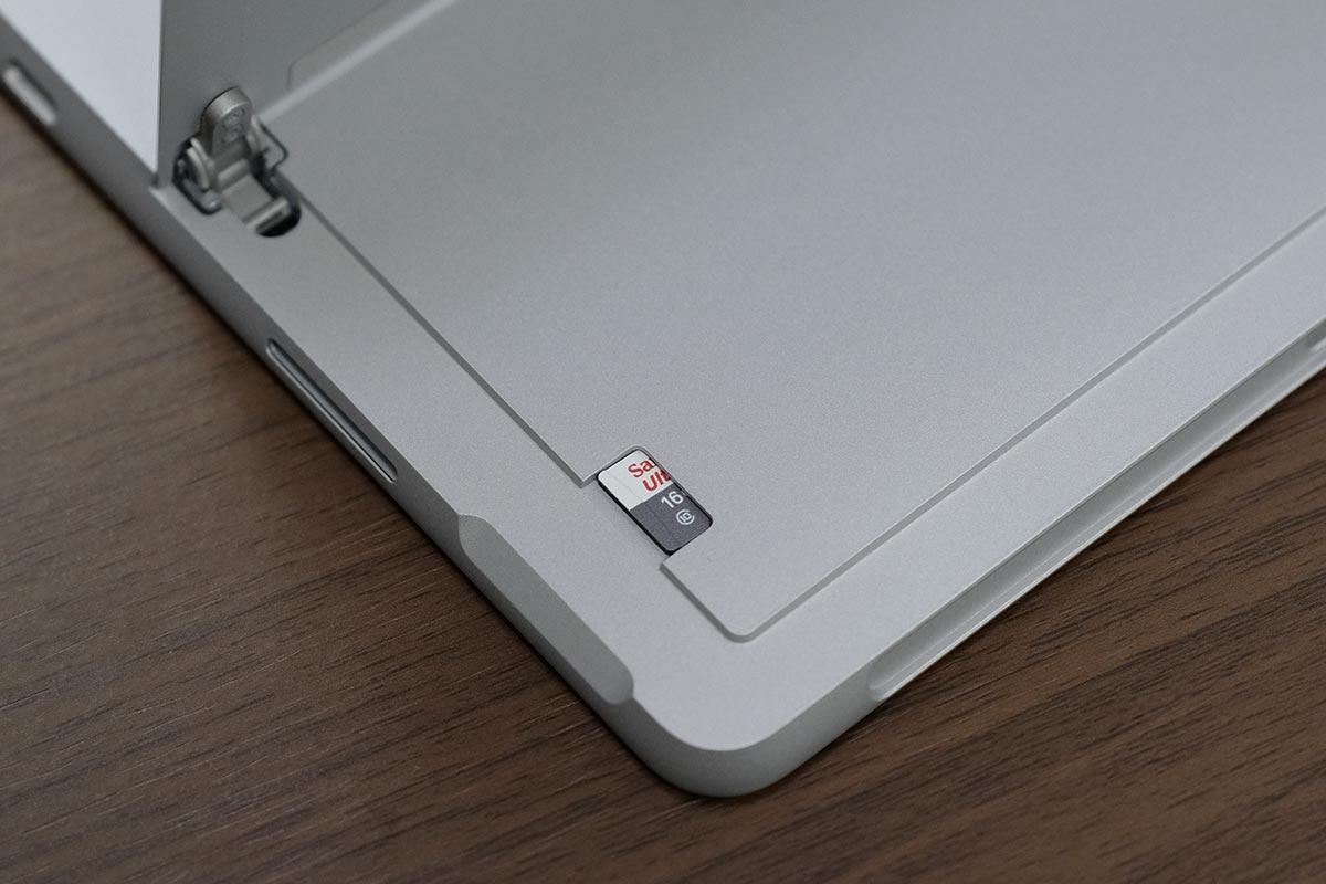microSDカードに対応