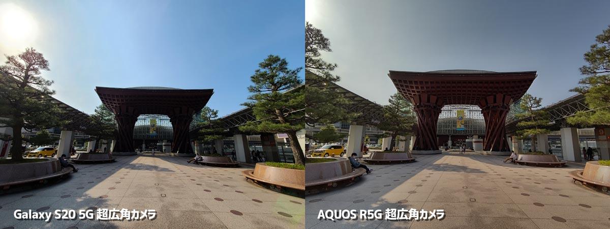 超広角カメラの画角比較