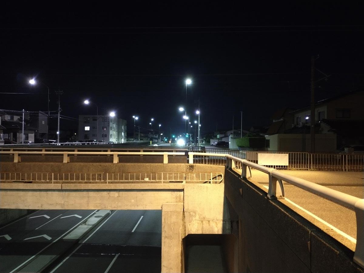 moto g8で夜間撮影