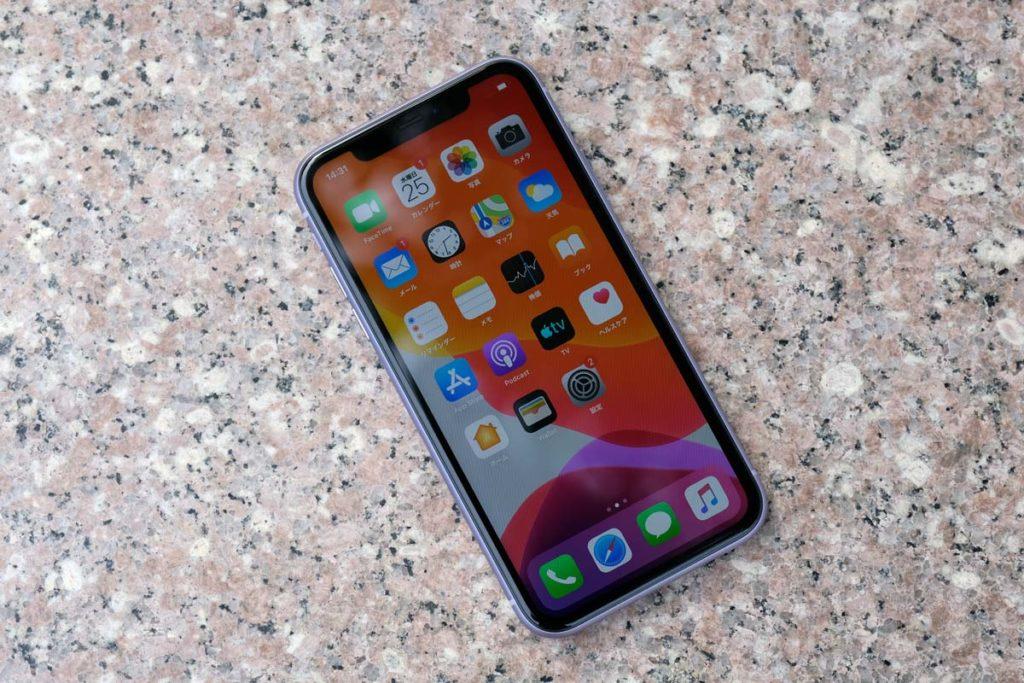iPhone 11のディスプレイ