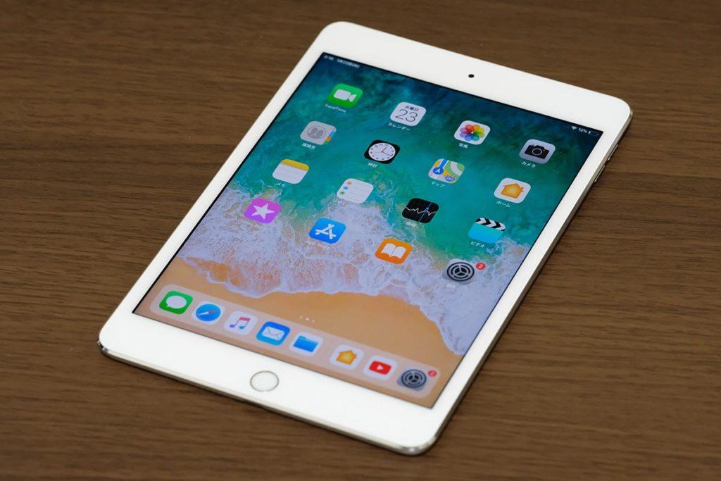 iPad mini 4の正面デザイン
