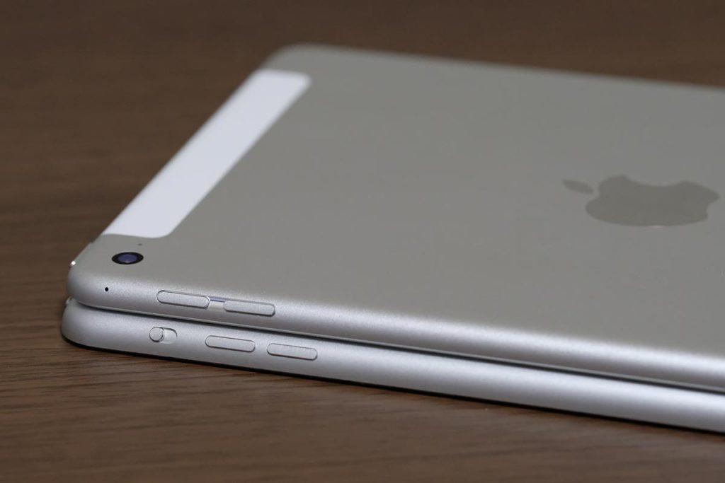 iPad mini 4とiPad mini 3の筐体の厚み