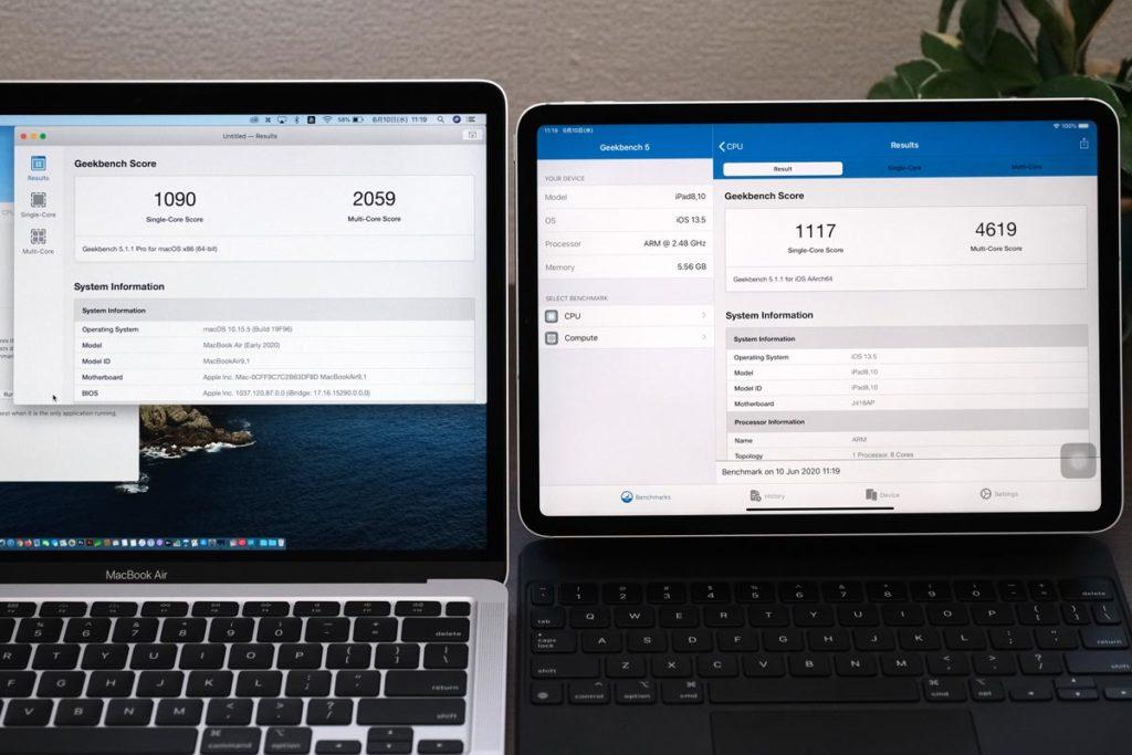 MacBook AirとiPad Pro 性能比較