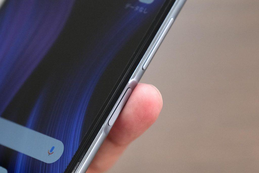 Redmi Note 9Sのサイド指紋センサー