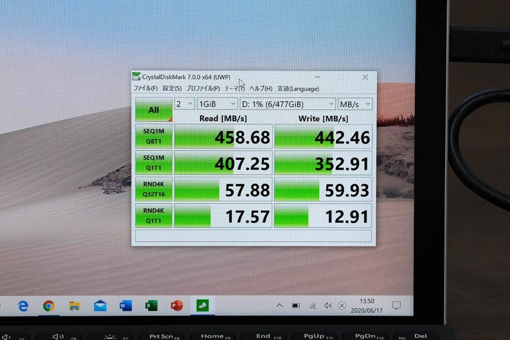 RP-UM003の転送速度(Windows)
