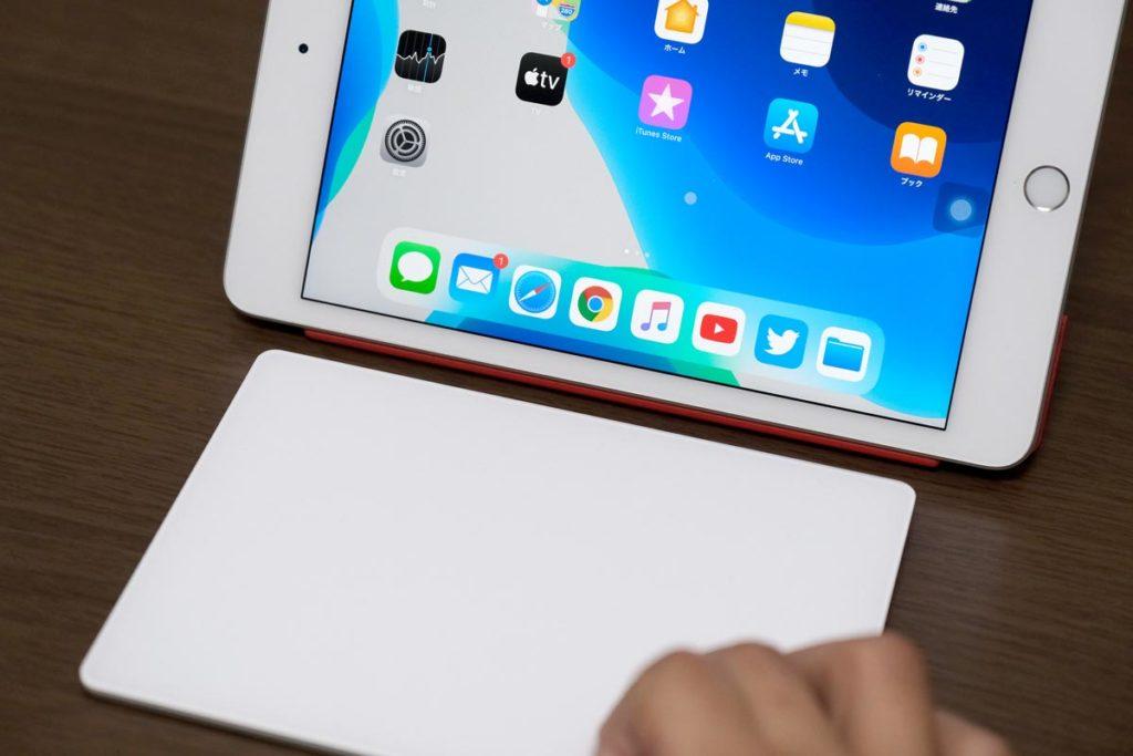 iPad mini 5でトラックパッド