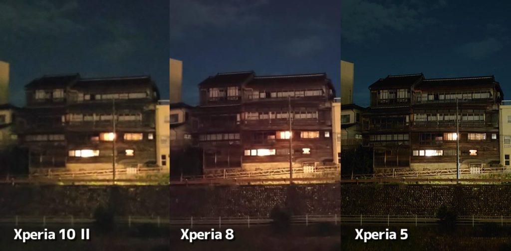 Xperiaの夜景モードを比較