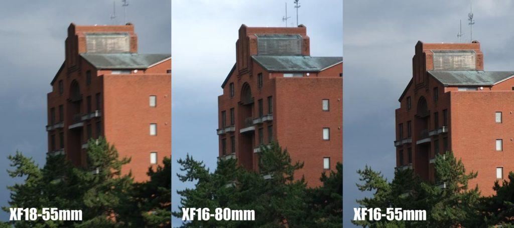 XF18-55・XF16-80・XF16-55の画質比較(広角側)