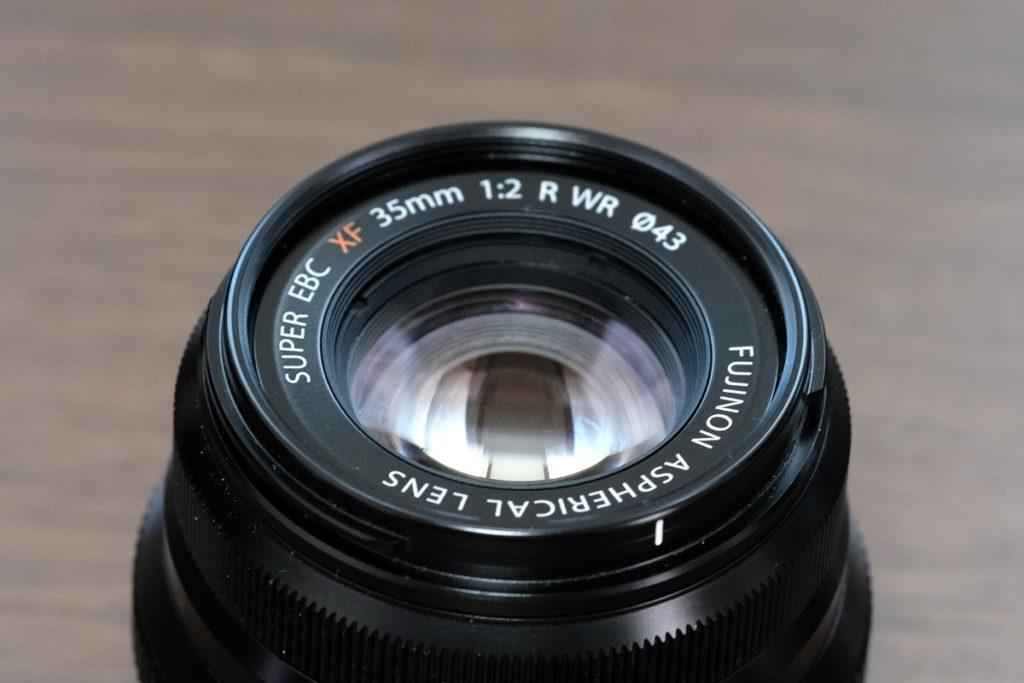 XF35mmF2 R WRのレンズ部分