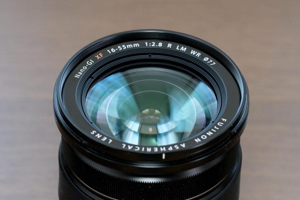 XF16-55mmF2.8のレンズ