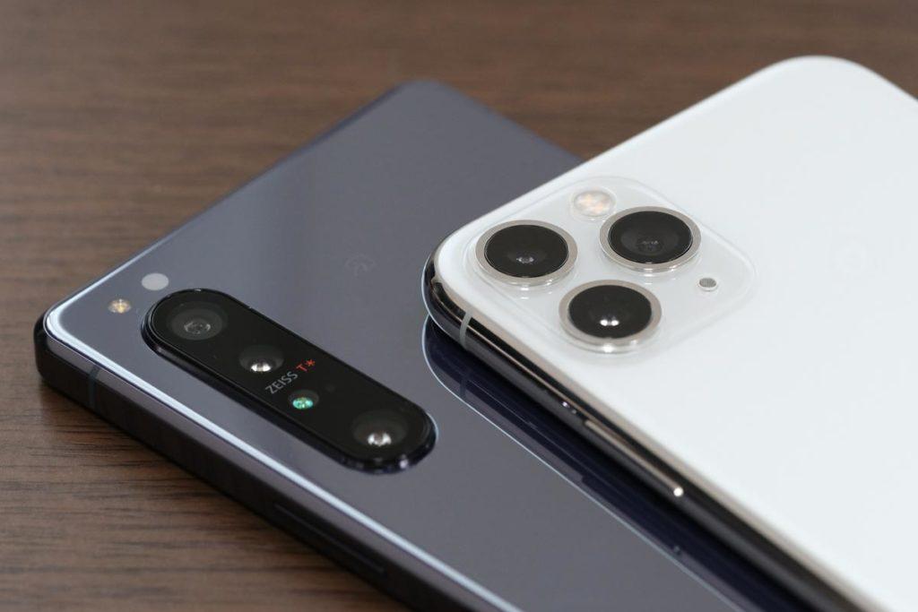 Xperia 1 Ⅱ・iPhone 11 Pro リアカメラ