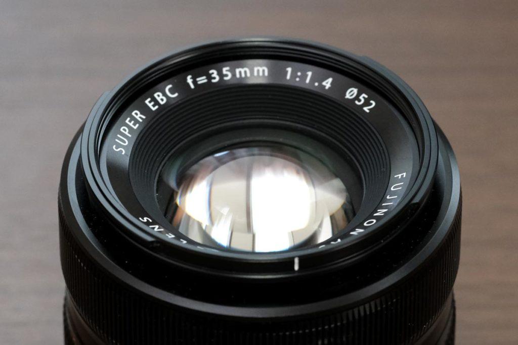 XF35mmF1.4 Rのレンズ部分