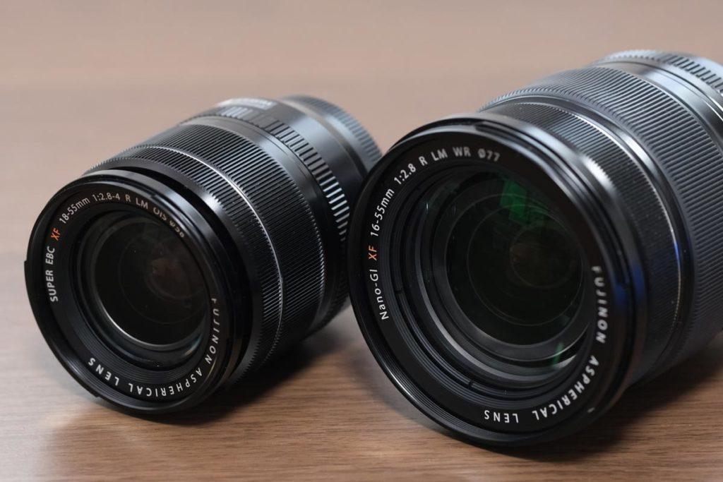 XF18-55・XF16-55のレンズの違い