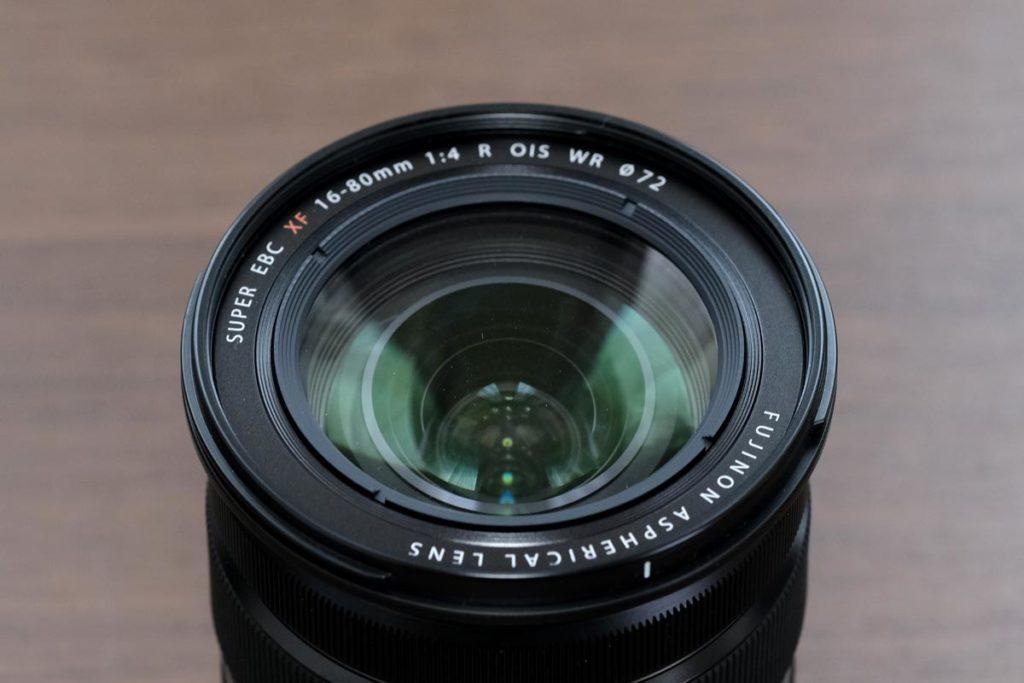 XF16-80mmF4のレンズ