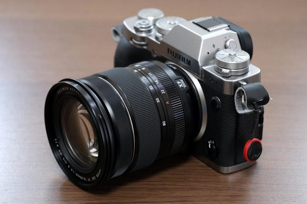 XF16-80mmF4のレンズの大きさ