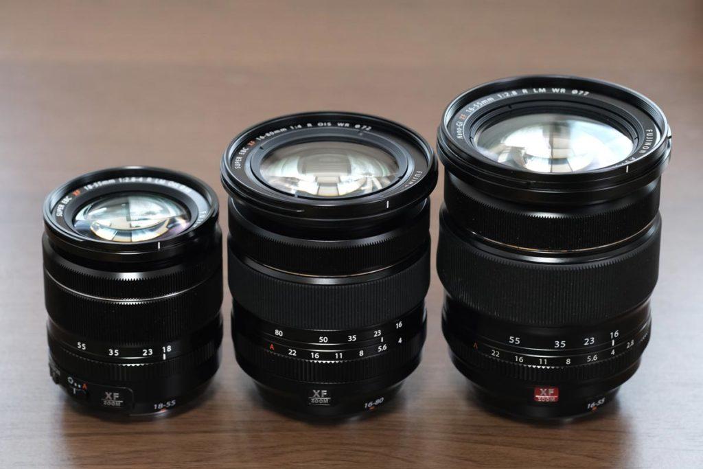 XF18-55・XF16-80・XF16-55