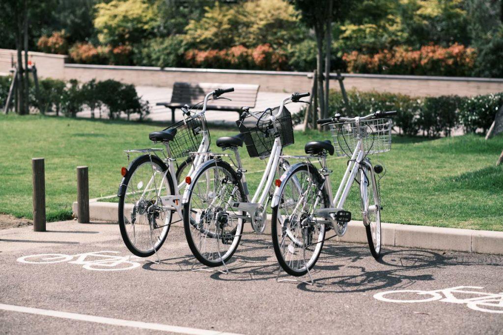 X-T4のクラシックネガで自転車を撮影