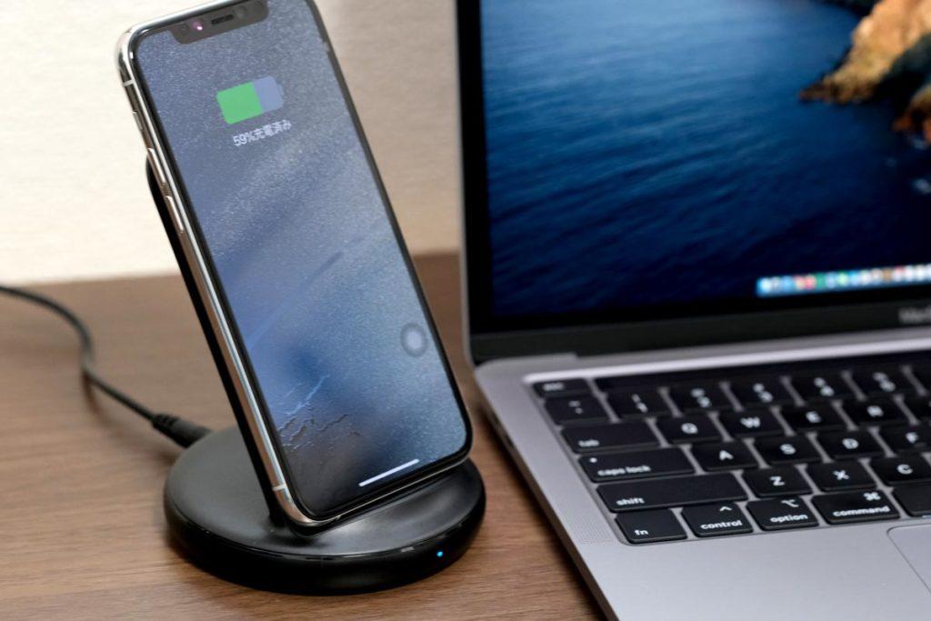iPhone 11 ProをPowerWave Ⅱ Standで充電