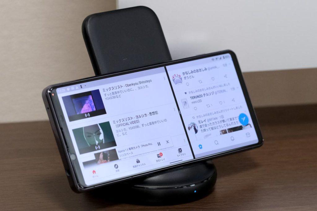 PowerWave Ⅱ Standはスマホ横向きも充電できる