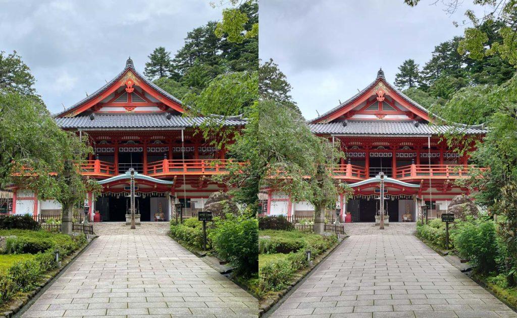 iPhone 11 Pro・Xperia 1 Ⅱ 標準カメラでお寺を撮影