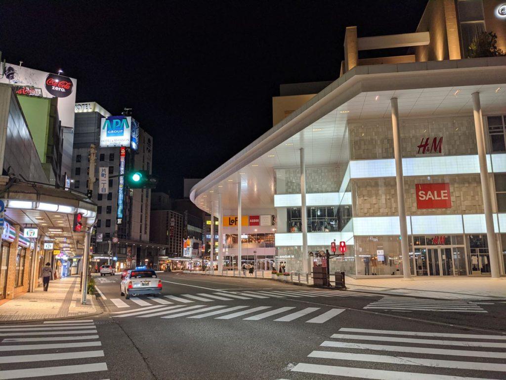 夜の街をPixel 4aで撮影